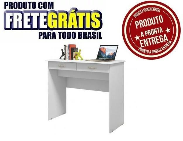 Escrivaninha Mesa Computador Quarto Escritorio Ej 2 Gavetas - Foto 2