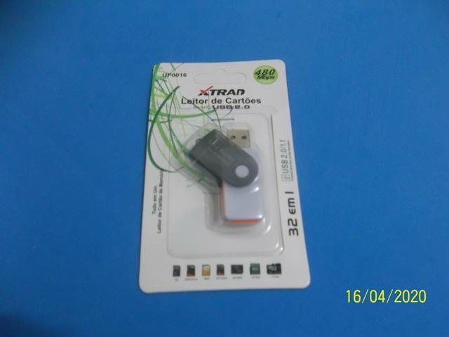Leitor de cartão de memória R$4,00