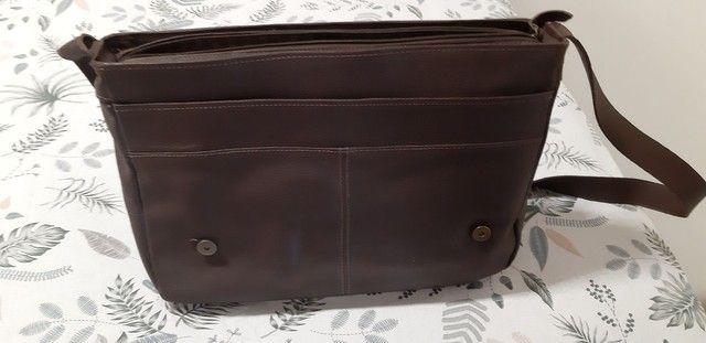 Bolsa de couro marrom  Le postiche  - Foto 4