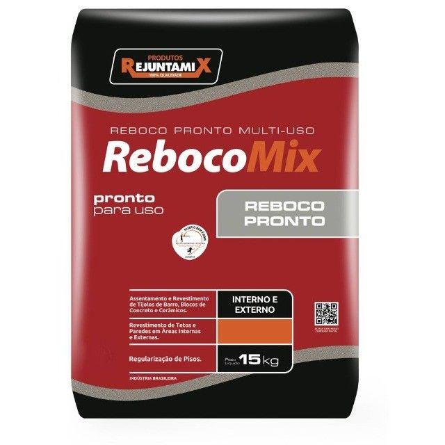 Reboco Pronto Cinza 15kg - Rejuntamix