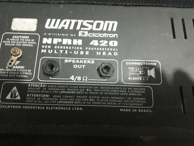 Amplificador Watsom ciclotrom nprh 420 - Foto 3