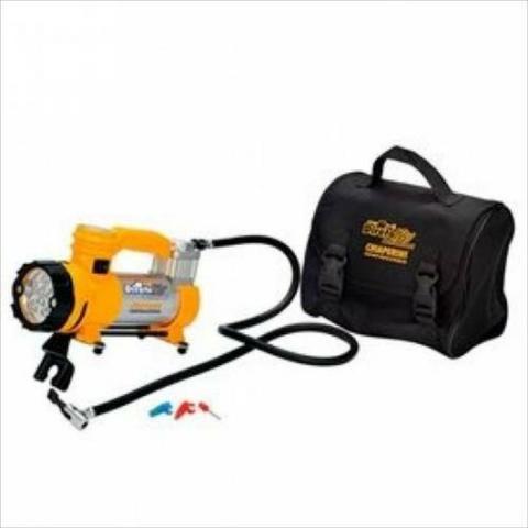 Mini Compressor Ar Direto +lanterna 12v Chiaperini