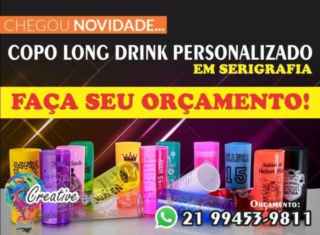 Copos personalizados Long Drink direto no copo!!