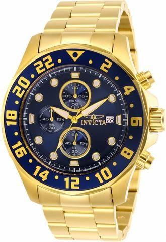 bbc7658e6f3 Relógio Invicta linha Specialty pulseira banhada a ouro