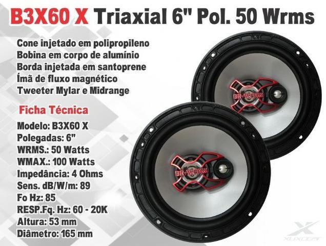 Par de alto falantes Bravox 4 5 6 polegadas 200W Novo 1 ano de garantia b3x60x Entregamos - Foto 3