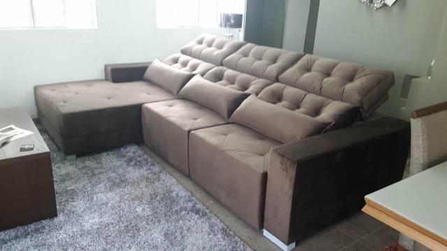 Sofá retrátil e reclinável sob medida - Foto 2
