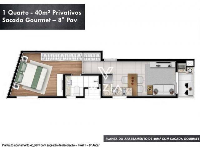 Studio com 1 dormitório à venda, 29 m² por R$ 265.000,00 - Alto da Rua XV - Curitiba/PR - Foto 16