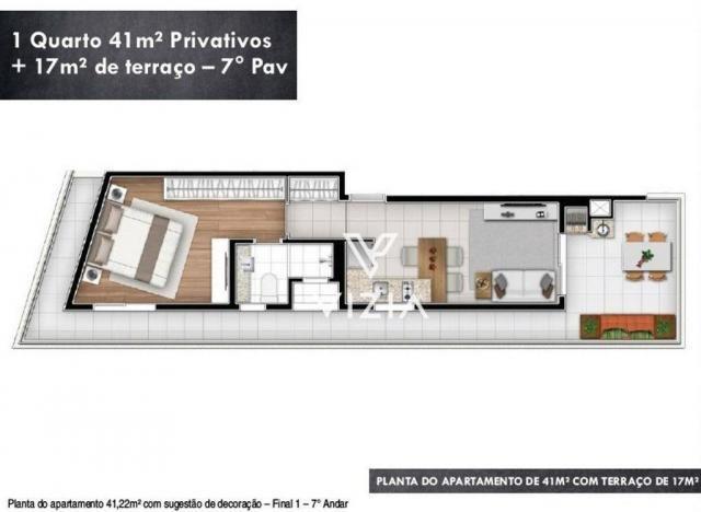 Studio com 1 dormitório à venda, 29 m² por R$ 265.000,00 - Alto da Rua XV - Curitiba/PR - Foto 20