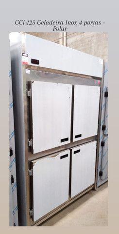 GCI-125 Geladeira Comercial, refrigerada Inox 4 portas - Polar