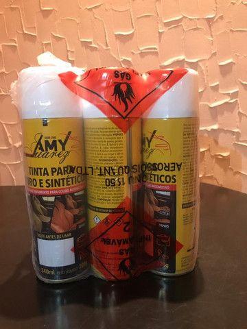 Tinta Spray para Couro e Sintéticos - Foto 4