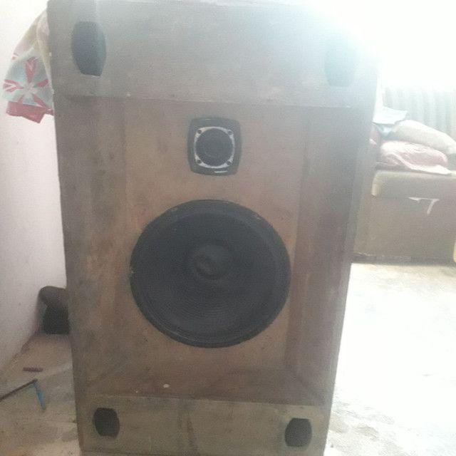Caixa de som montado com auto falante de 15polegadas 350wts RMS e twiter st 302 selênio. - Foto 2