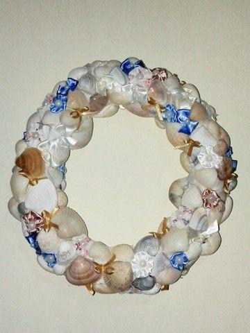 Guirlanda conchas do mar