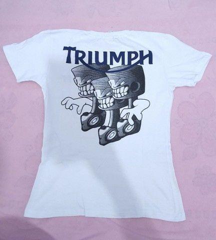 Duas Camisas baby look feminina Triumph M