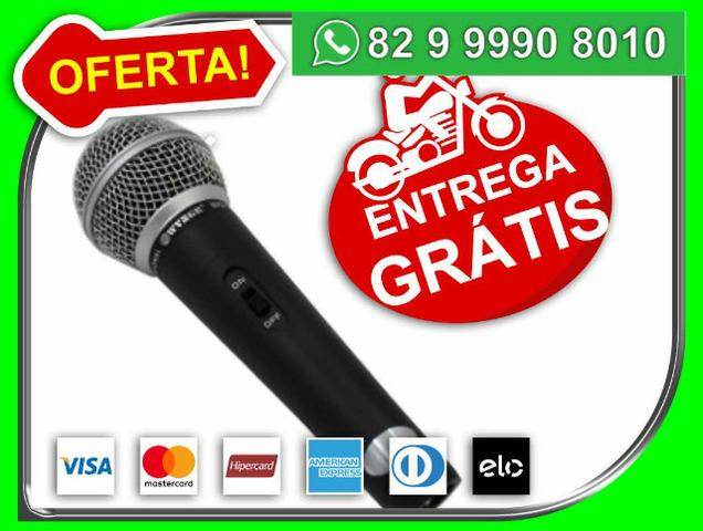 Pronta-entrega-SP> Microfone Profissional M58 + Cabo