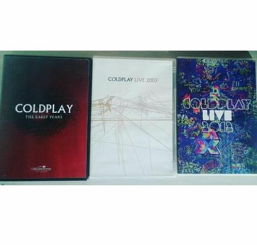 DVD Coldplay The Early Years (Live 2000); DVD Coldplay Live 2003 e