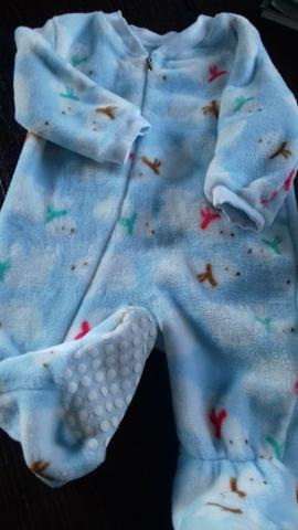 Tip top fleece azul com ursos polares
