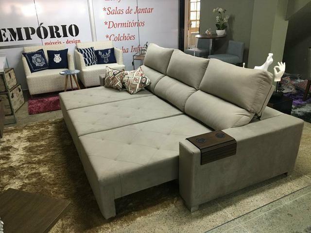 Sofá retrátil e reclinável sob medida - Foto 4