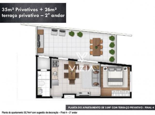 Studio com 1 dormitório à venda, 29 m² por R$ 265.000,00 - Alto da Rua XV - Curitiba/PR - Foto 19