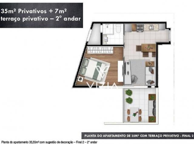 Studio com 1 dormitório à venda, 29 m² por R$ 265.000,00 - Alto da Rua XV - Curitiba/PR - Foto 17