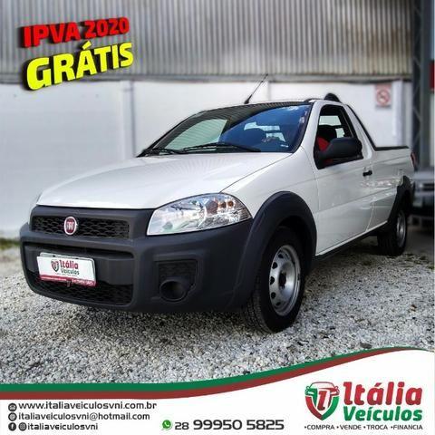 Fiat Strada 1.4 Hard Working CS 2018/19. IPVA 2020 Pago