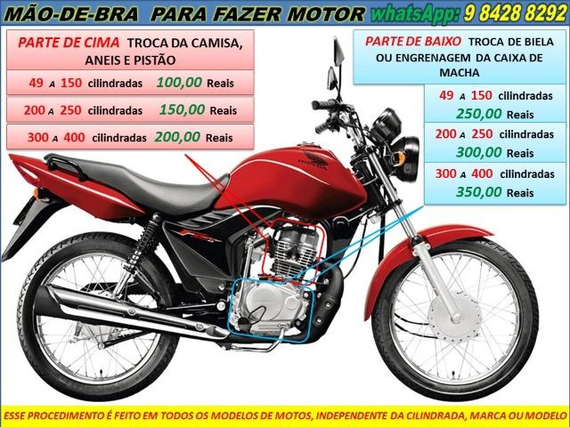 Revisão geral de moto a domicilio a partir 50,00 Reais - Foto 3