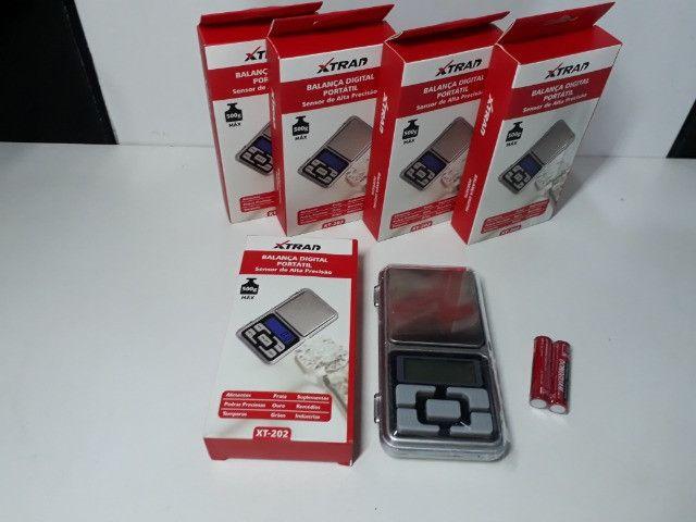 Mini Balança Digital de Bolso 0,1g até 500g Xtrad - Foto 3