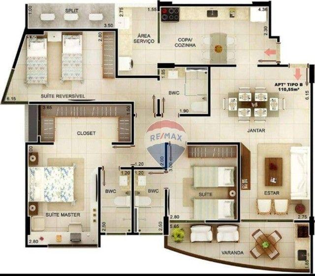 Excelente apartamento à venda, em fase de construção, com 110 m² e área de lazer completa  - Foto 17