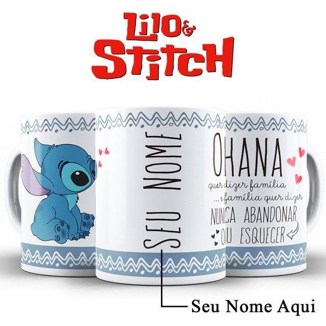 Ohana Caneca Stitch Personalizada Com o Nome da Pessoa Amada - Foto 5