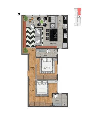 Apartamento com 02 quartos - Avenida Maripá - Próximo ao Supermercado Primato 90,00m2 - Foto 2