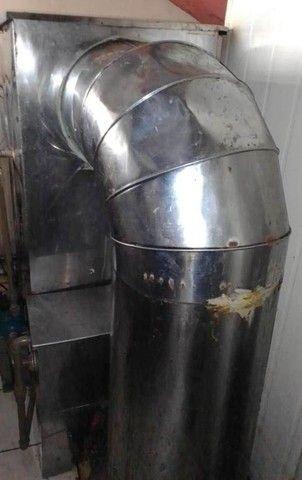 Sistema de exaustão e lavagem atmosféricas em inox com turbina acoplada.  - Foto 3