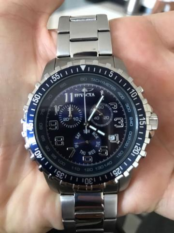 Invicta Collection Chronograph Stainless Steel Blue Dial Watch