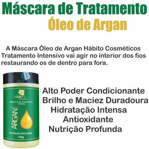Máscara Rica em Vitamina E e Ômega 6 e 9 Nutrição Profunda Hábito Cosméticos Proteção de s - Foto 2