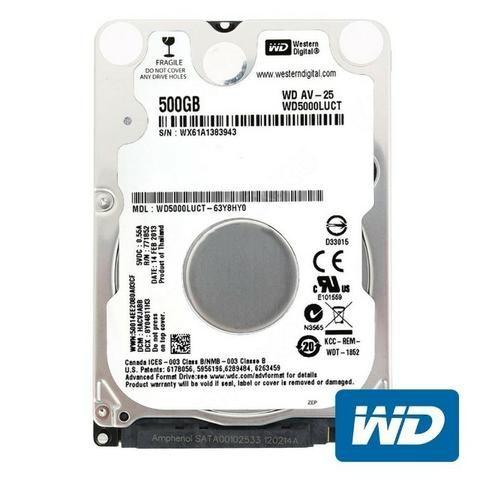 HD Notebook 500GB Western Digital Interno 5400rpm 2,5