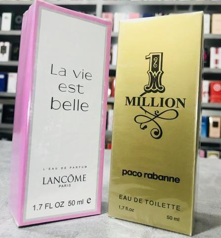 Perfume One Million Paco Rabanne ou La Vie Est Belle R$39,99 cada ou 03 por R$100,00