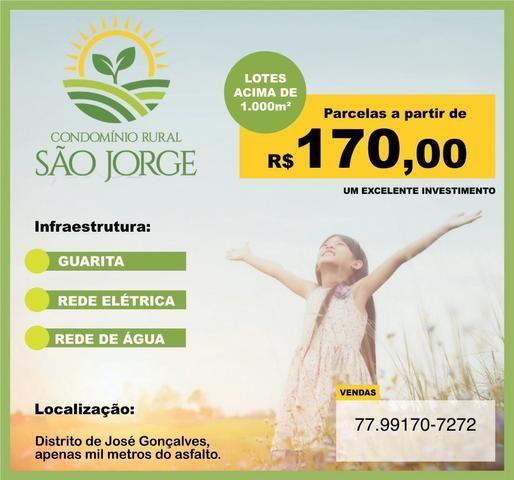 Chácara São Jorge - 1.000 m2 - R$ 170,00 parcelas - ÚLTIMAS UNIDADES !