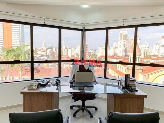Sala à venda, 78 m² por R$ 590.000,00 - Gonzaga - Santos/SP