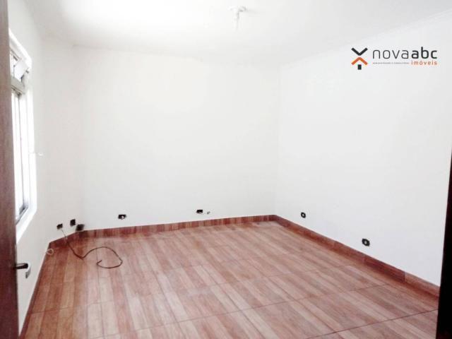 Sobrado com 4 dormitórios para alugar, 260 m² por R$ 4.500,00/mês - Vila Homero Thon - San - Foto 10