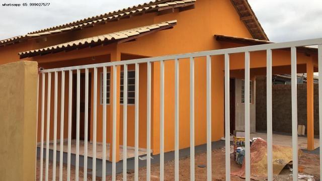 Casa para Venda em Várzea Grande, Paiaguas, 2 dormitórios, 1 banheiro, 2 vagas