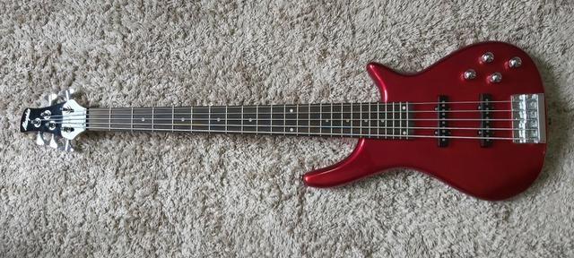 Baixo Memphis Tb-540 A Mr Vermelho 5 Cordas - Refinado