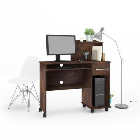 Mesa Computador Office Studio Rodizios Lukaliam - Foto 4