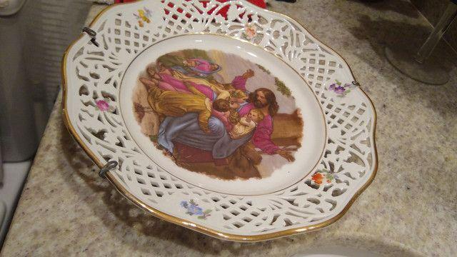 Belíssimo prato pintado a mão - Foto 3