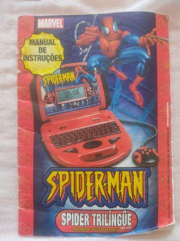 Leptop infantil Homem Aranha - Foto 4