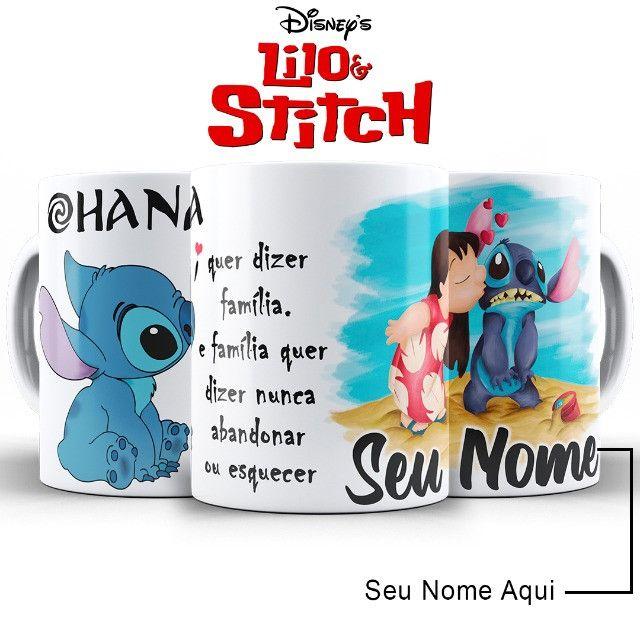 Ohana Caneca Stitch Personalizada Com o Nome da Pessoa Amada - Foto 2