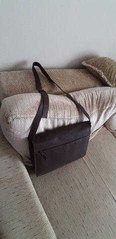 Bolsa de couro marrom  Le postiche  - Foto 3