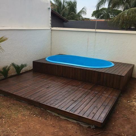 Deck Em Piscina De Fibra Servicos Vila Olinda Campo Grande