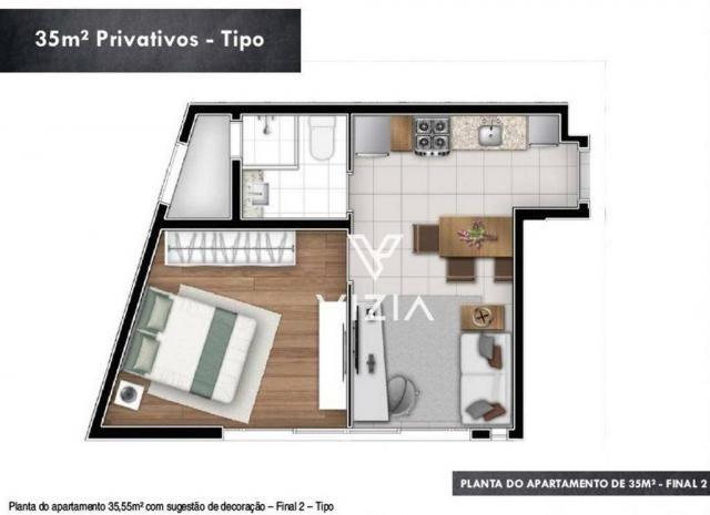 Studio com 1 dormitório à venda, 29 m² por R$ 265.000,00 - Alto da Rua XV - Curitiba/PR - Foto 13