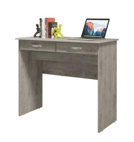 Escrivaninha Mesa Computador Quarto Escritorio Ej 2 Gavetas - Foto 3