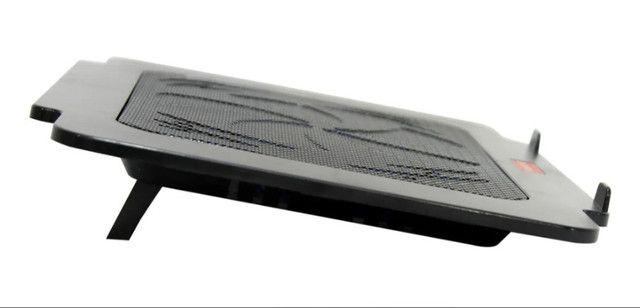 """Suporte Notebook Cooler Base Com Ventilação Apoio Mesa Usb De 9 A 15"""" polegadas - Foto 2"""
