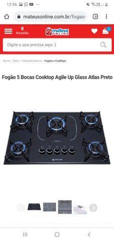 Fogão 5 bocas cooktop