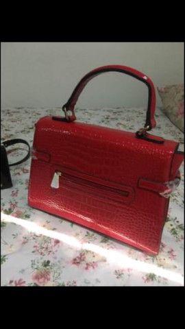 Bolsa chique de couro invernizado - Foto 2